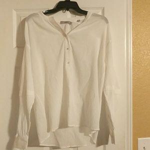 NWOT Vince White 100% cotton blouse